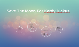 save the moon from kerdy dickus By:tim wynne-jones save the moon for kerdy dickus 1)the family is watching the same movie they watch every christmas  its a wonderful life (p82) 2)while cooking snacks for the movie they see a stranger standing outside their door(p83) 3) they invite him in to get him out of the terrible storm.