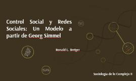 Control Social y Redes Sociales: Un Modelo a partir de Georg