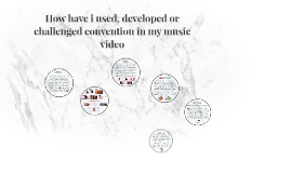 How have i used, developed or challenged convention in my mu