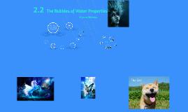 2.2 Properties of Water