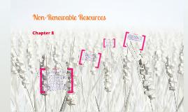 Non-Renewable Resources