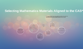 Selecting Mathematics Materials Aligned to the CAS