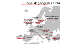 Europeisk geografi i 1914