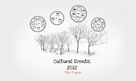 Cultural Events, 2012