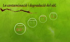 La contaminació i la degradació del sòl.