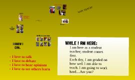 Who am I? Why do I want to teach?