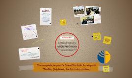 """Construyendo propuesta formativa desde la categoría """"Pueblos"""
