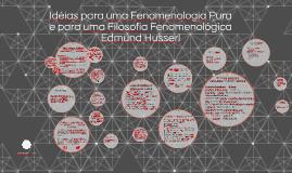 Idéias para uma Fenomenologia Pura e para uma Filosofia Feno