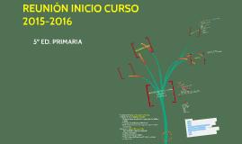 REUNIÓN INICIAL 5º 2015-2016