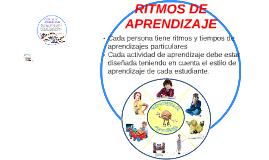 Copy of RITMOS DE APRENDIZAJE