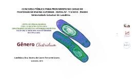 Aula 6 - UEL - Genero Clostridium