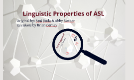 Linguistics of ASL