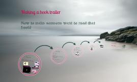 Making a book trailer