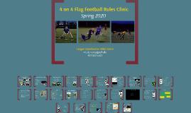 4 on 4 Flag Football Rules Clinic