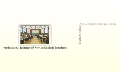 Professional Identity of Novice English Teachers