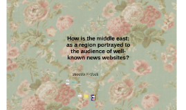 How is middle east portrayed as a region to audience of well
