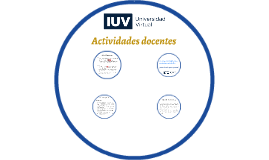 Actividades docentes Certificación