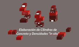 Elaboración de Cilindros de Concreto y Densidad en el sitio