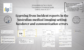 Learning from incident reports