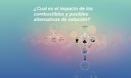 ¿Cual es el impacto de los combustibles y posibles alternati