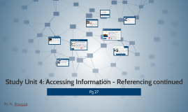 Study Unit 4: Accessing Information - Referencing continued