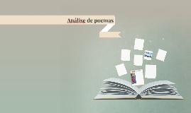Análise de poemas