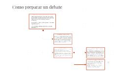 Como preparar un debate