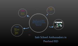 Safe School Ambassadors at Pearland ISD