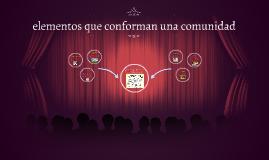 Copy of ELEMENTOS QUE CONFORMAN LA COMUNIDAD