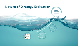 Nature of Strategy Evaluation