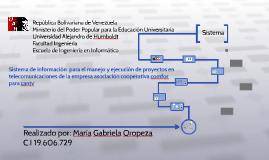 Sistema de informacion  para el manejo y ejecución de proyec
