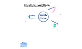 Hillside Plastics - Quality Procedures: Second Meeting