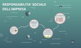 RESPONSABILITA' SOCIALE DELL'IMPRESA