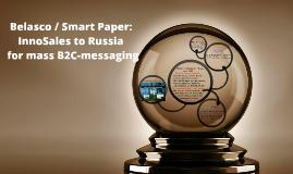 Belasco / SMART PAPER: InnoSales to Russia for mass В2С-messaging