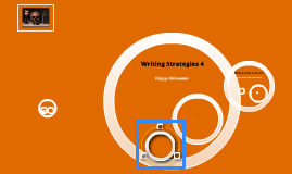 Writing Strategies 4 - Oct 31st, Nov 1st