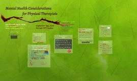 Mental Health Considerations for Physical Therapists