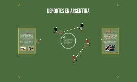 DEPORTES EN ARGENTINA