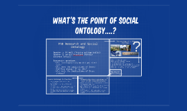What's the point of ontology?