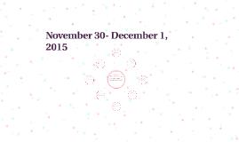 November 30- December 1, 2015