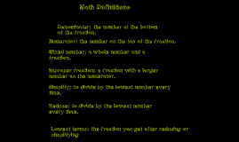 math definitions