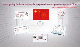 Investigating the impact of population growth on energy cons