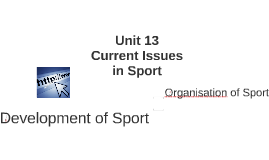 Copy of Current Issues in Sport