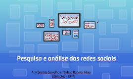 Pesquisa e análise das redes sociais