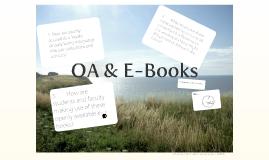 Open Access and E-Books