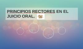 PRINCIPIOS RECTORES EN EL     JUICIO ORAL.