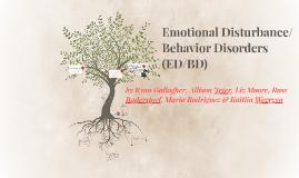 Copy of Emotional Disturbance/Behavior Disorder (EDBD)