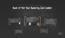 Book-of-the-Year Award (2019) by Zach Walker