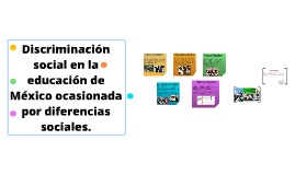 Discriminación social en la educación de México ocasionada p