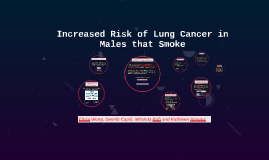 Increased Risk of Lung Cancer in Males that Smoke