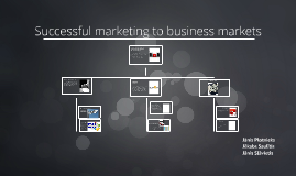 Successful marketing to business markets